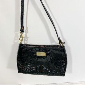Brahmin Black Embossed Patent Leather Black Purse